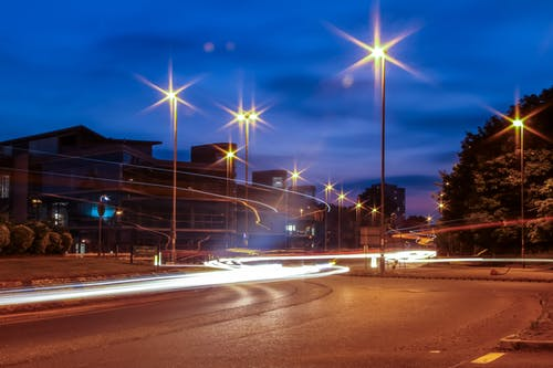 Free stock photo of car lights, citylights