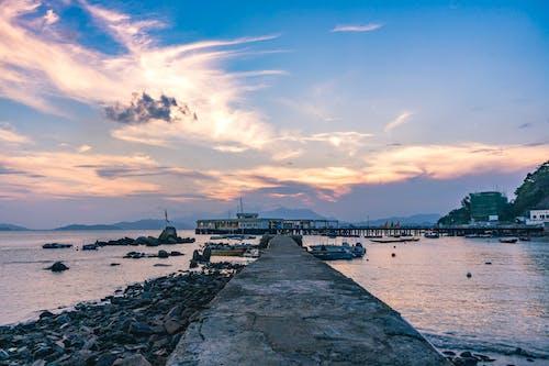 Gratis arkivbilde med båter, daggry, ferie, hav
