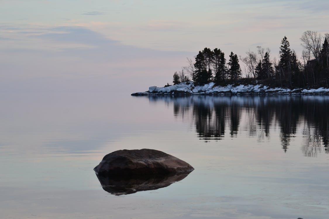 ขอบฟ้า, น้ำ, เงียบสงบ
