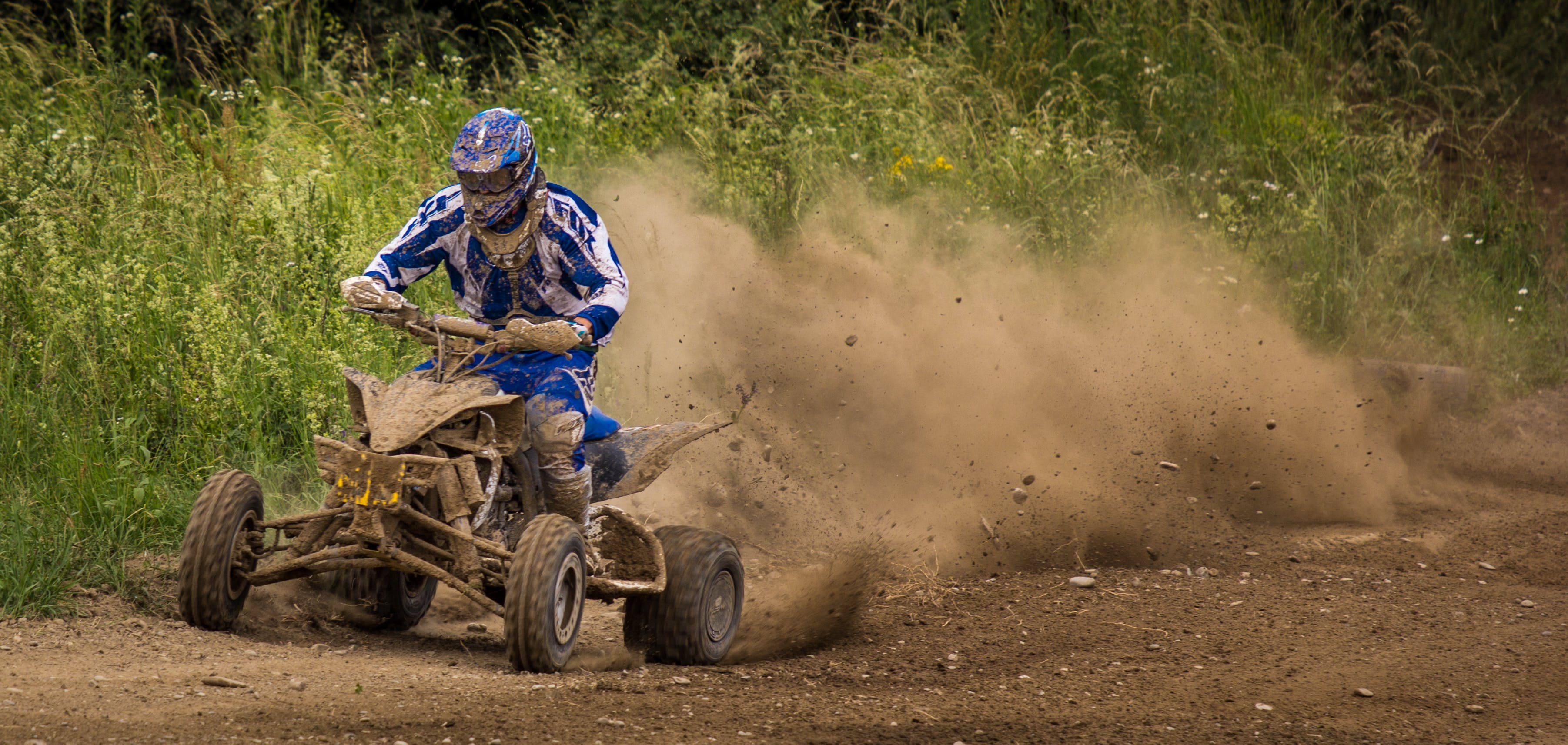 Free stock photo of motocross, motor racing, quad, terrain