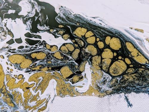 Kostnadsfri bild av abstrakt målning, celler, guld, häll målning
