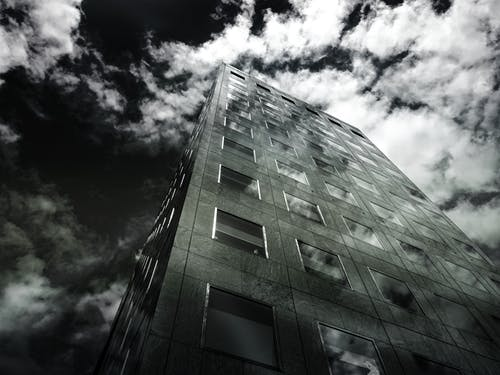 Black and White Photography of Building