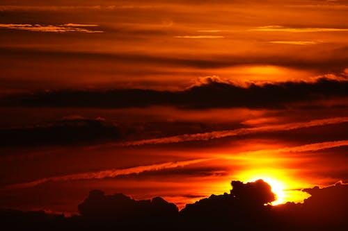 Kostnadsfri bild av apelsin, gryning, himmel, moln