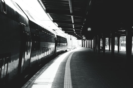 Free stock photo of lights, dark, train, blur