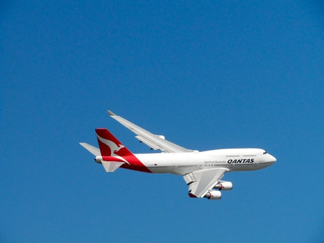 Qantas Airlines Plane on Air