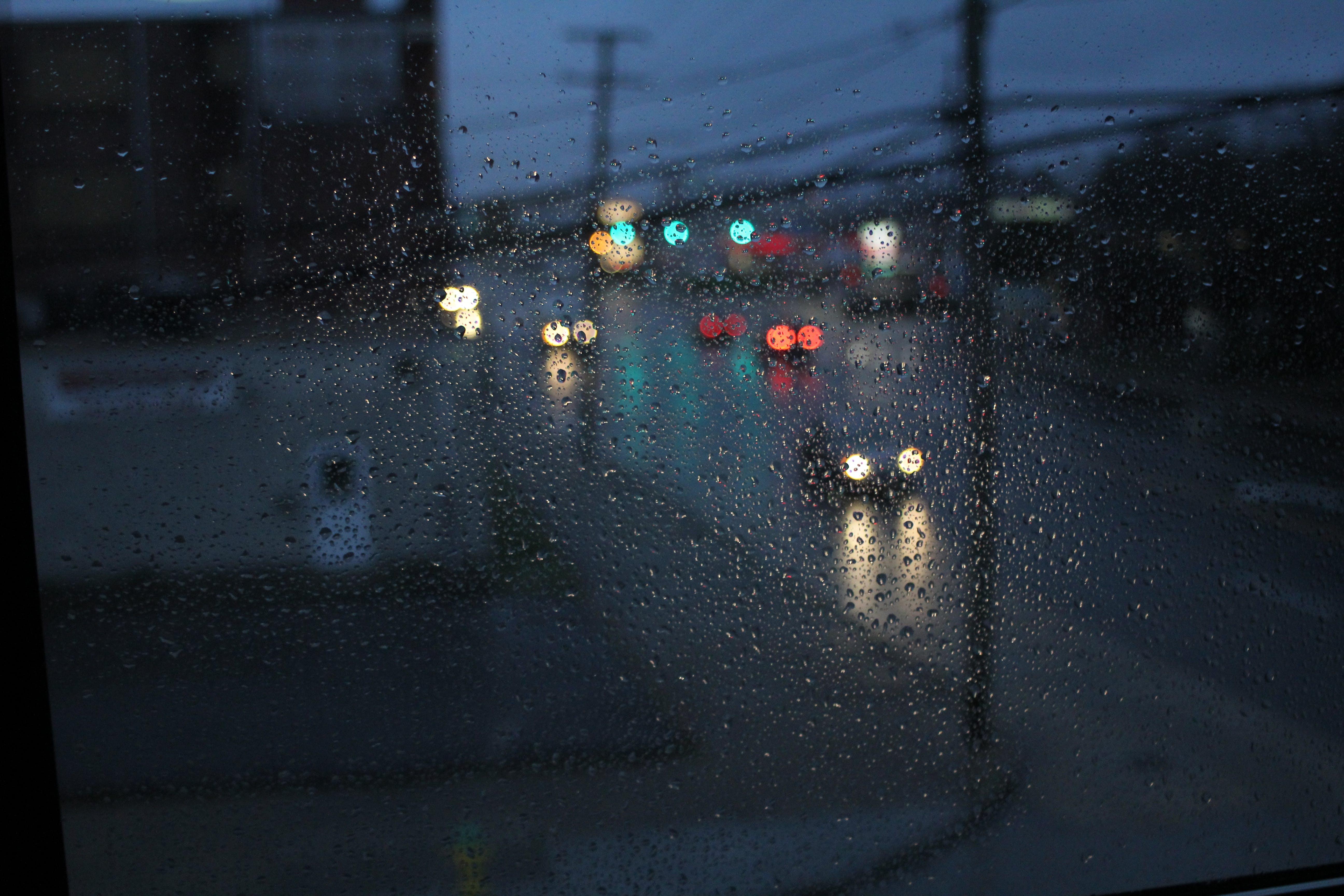 Základová fotografie zdarma na téma bouře, déšť, kapky deště, město