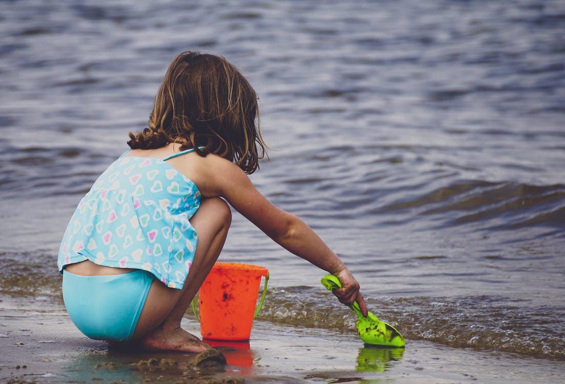Girl Near Seashore