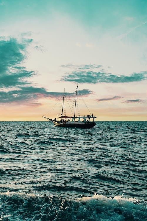 agua, barca, embarcación