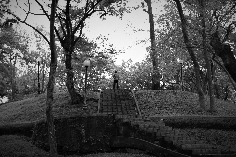 Free stock photo of black and white, exercise, man, meditate