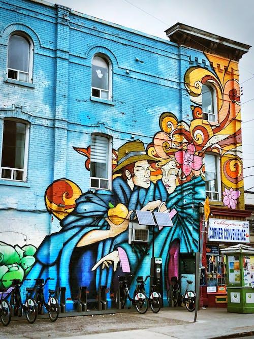 Základová fotografie zdarma na téma barvy, barvy města, kresba, město