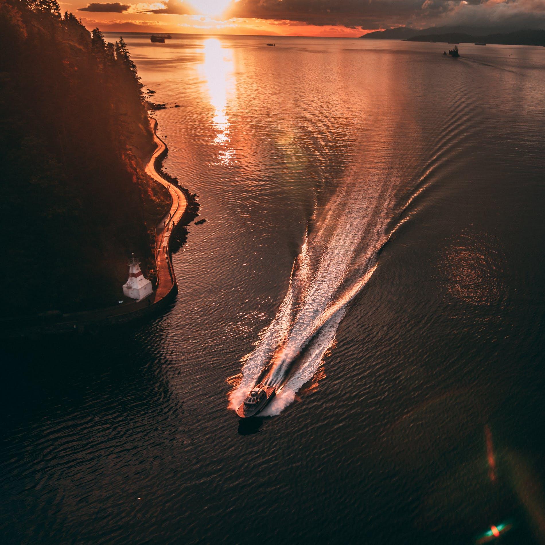 Základová fotografie zdarma na téma člun, hora, krajina, obloha