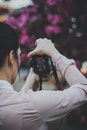 person, woman, camera
