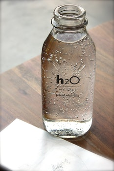 Clear Glass H2o Bottle