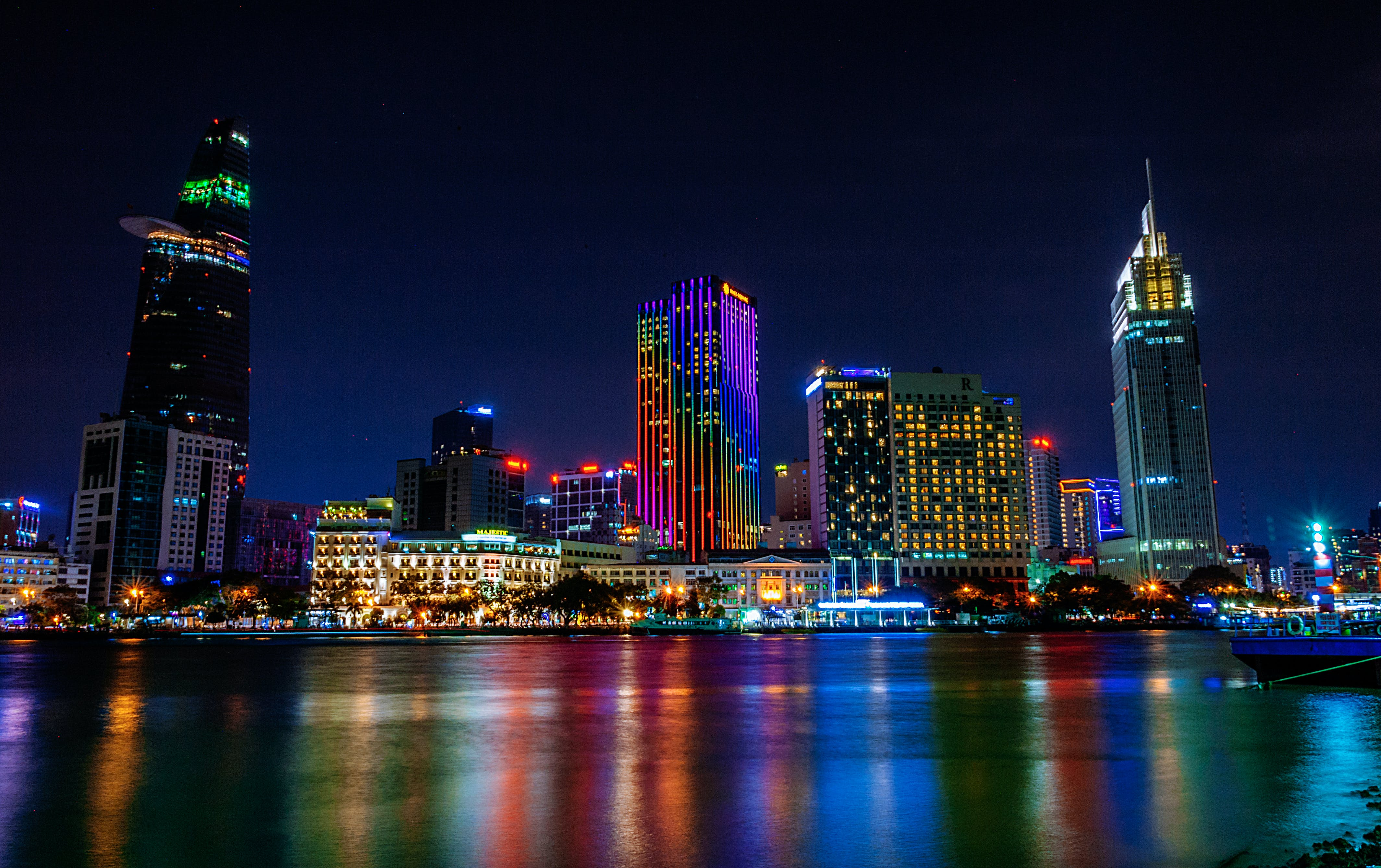 Photography of a City at night