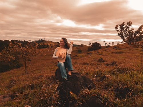 Free stock photo of #forest, girl, red, sky