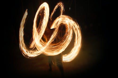 Foto d'estoc gratuïta de art, deslumbrante, firedance, foc