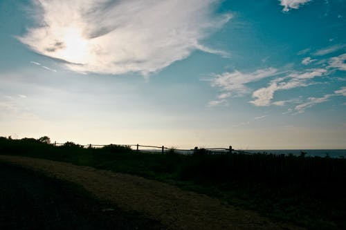 Ingyenes stockfotó felhők, kék, kék ég, tenger témában