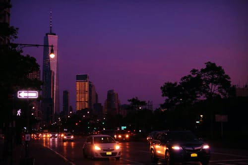 Free stock photo of evening, skies, skyline, tradetower