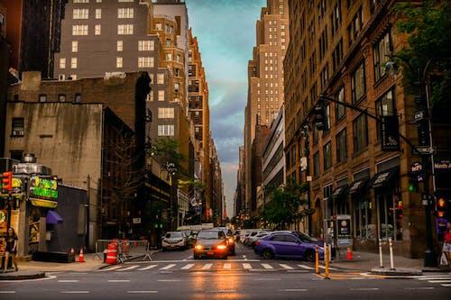 Free stock photo of atmospheric evening, evening, evening sky, street