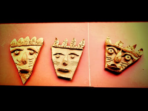 Free stock photo of clay art, mask