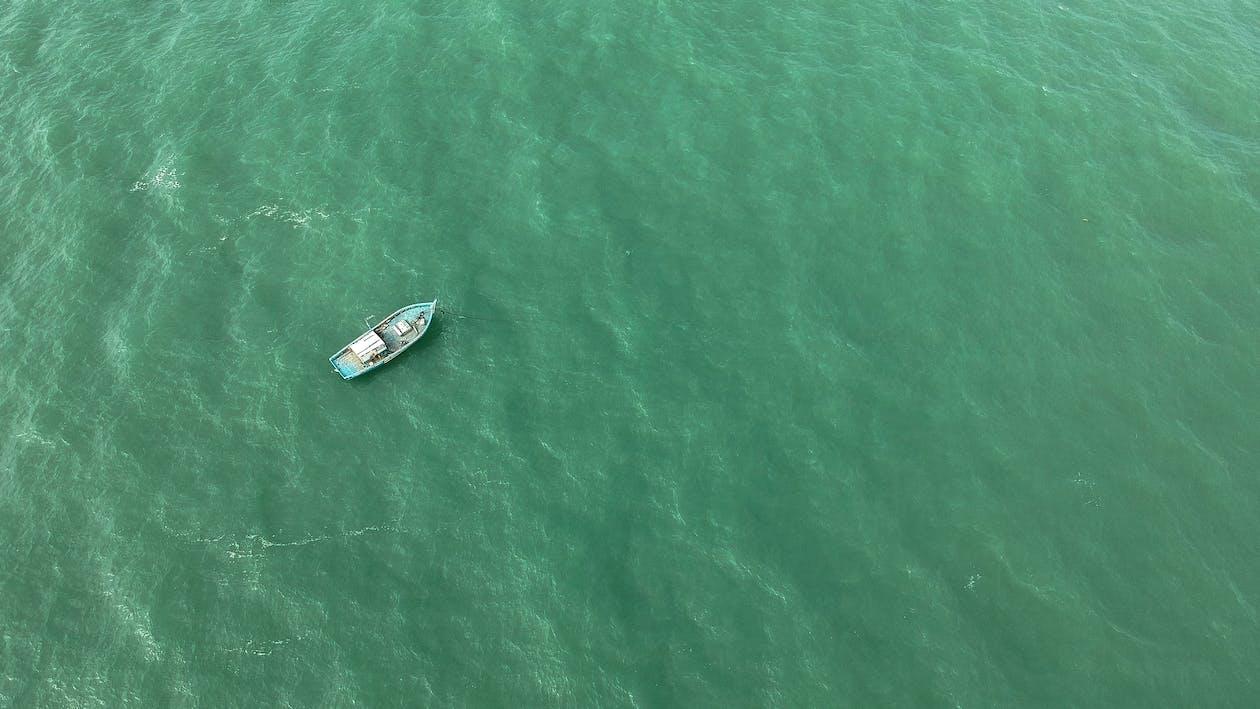 antenne, båd, drone