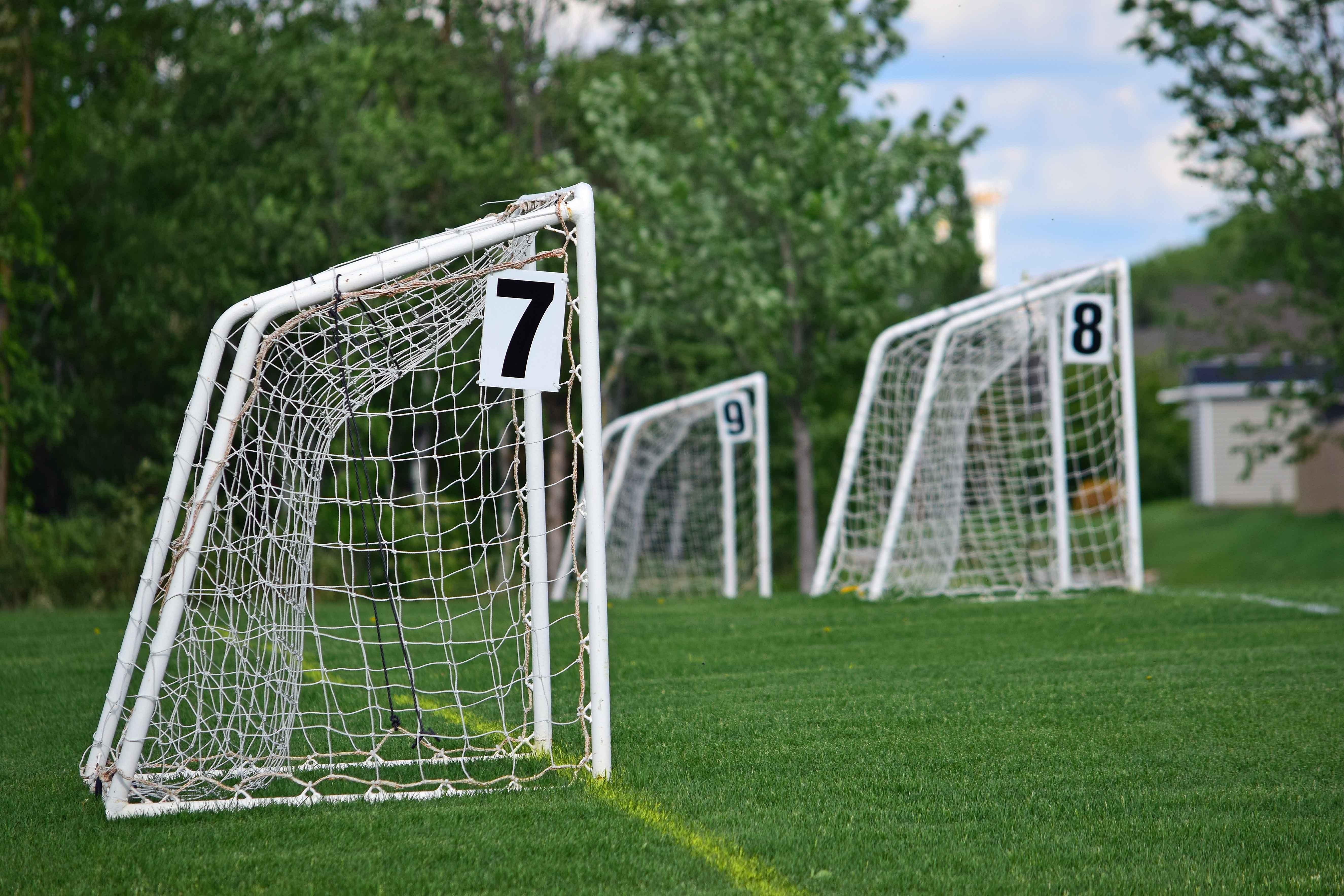 Free stock photo of soccer goal