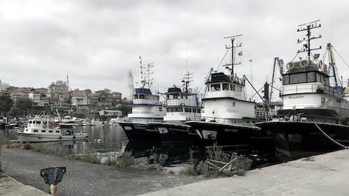 Základová fotografie zdarma na téma černé moře, moře, rybářské čluny