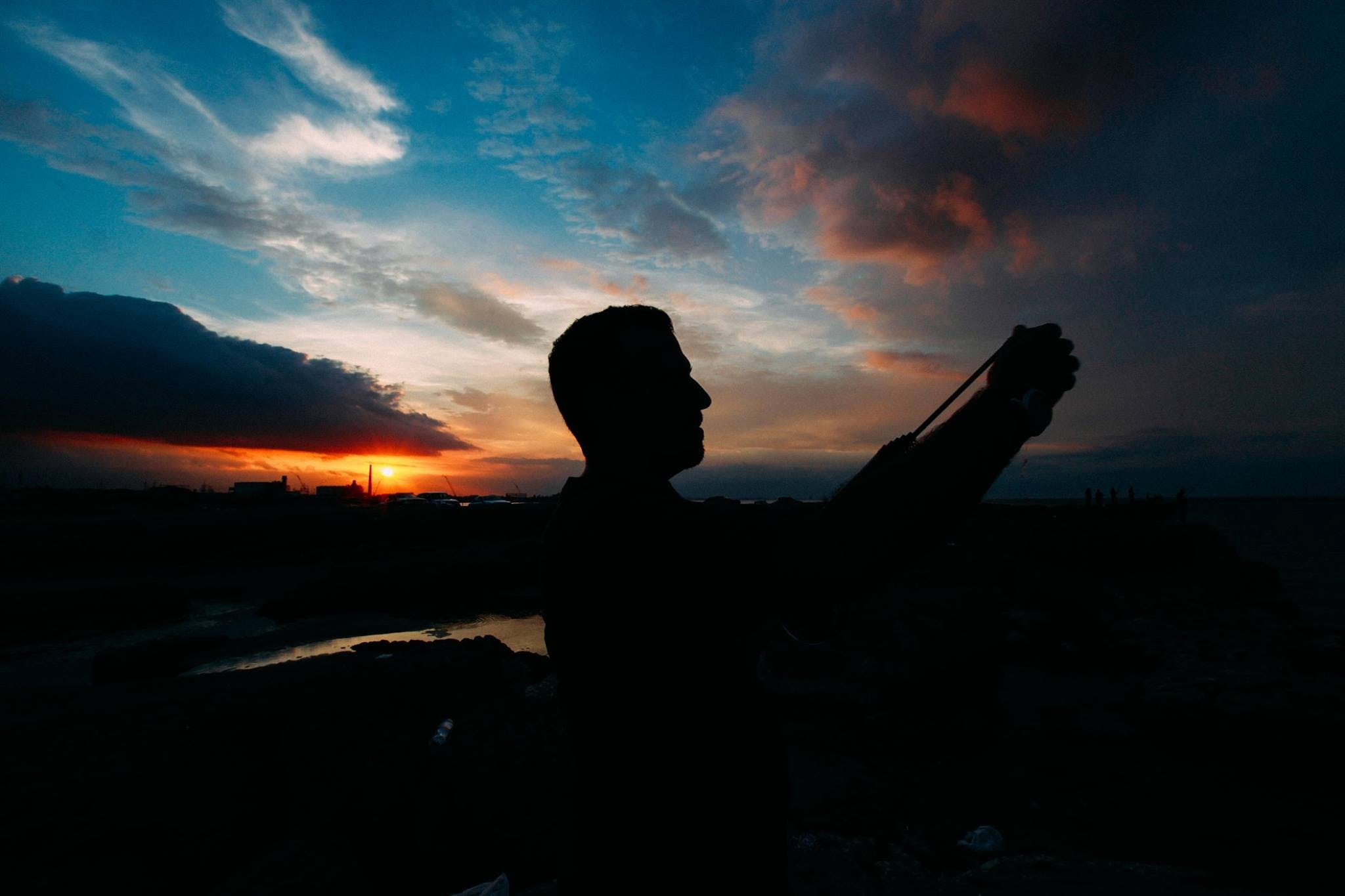 Silhouette Photography of Person during Golden Hour