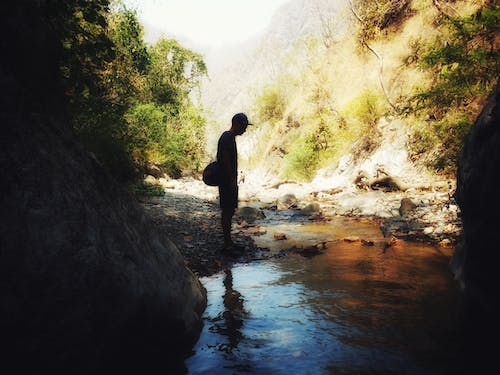 Free stock photo of man at river, outdoor, standing, stream