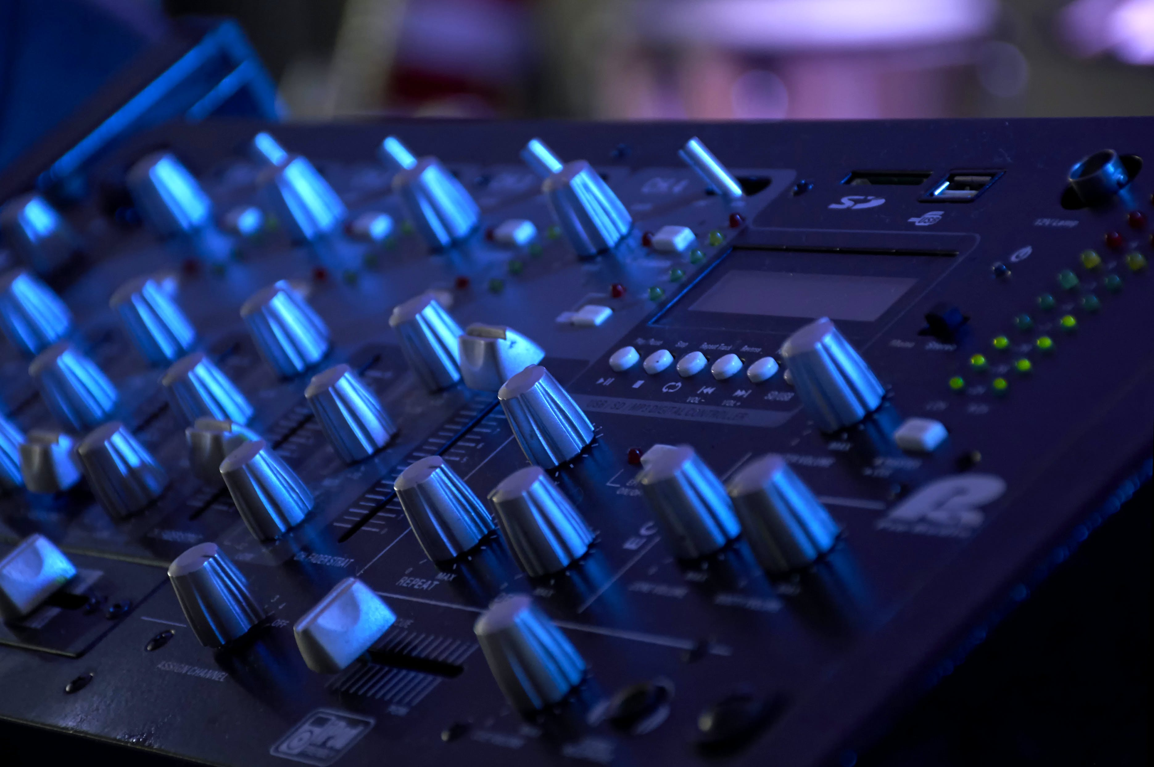 Free stock photo of music, sound, concert, board