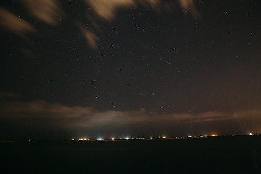 Free stock photo of sky, lights, night, dark