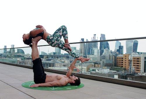 Δωρεάν στοκ φωτογραφιών με acro, acro yoga, asana, άθλημα
