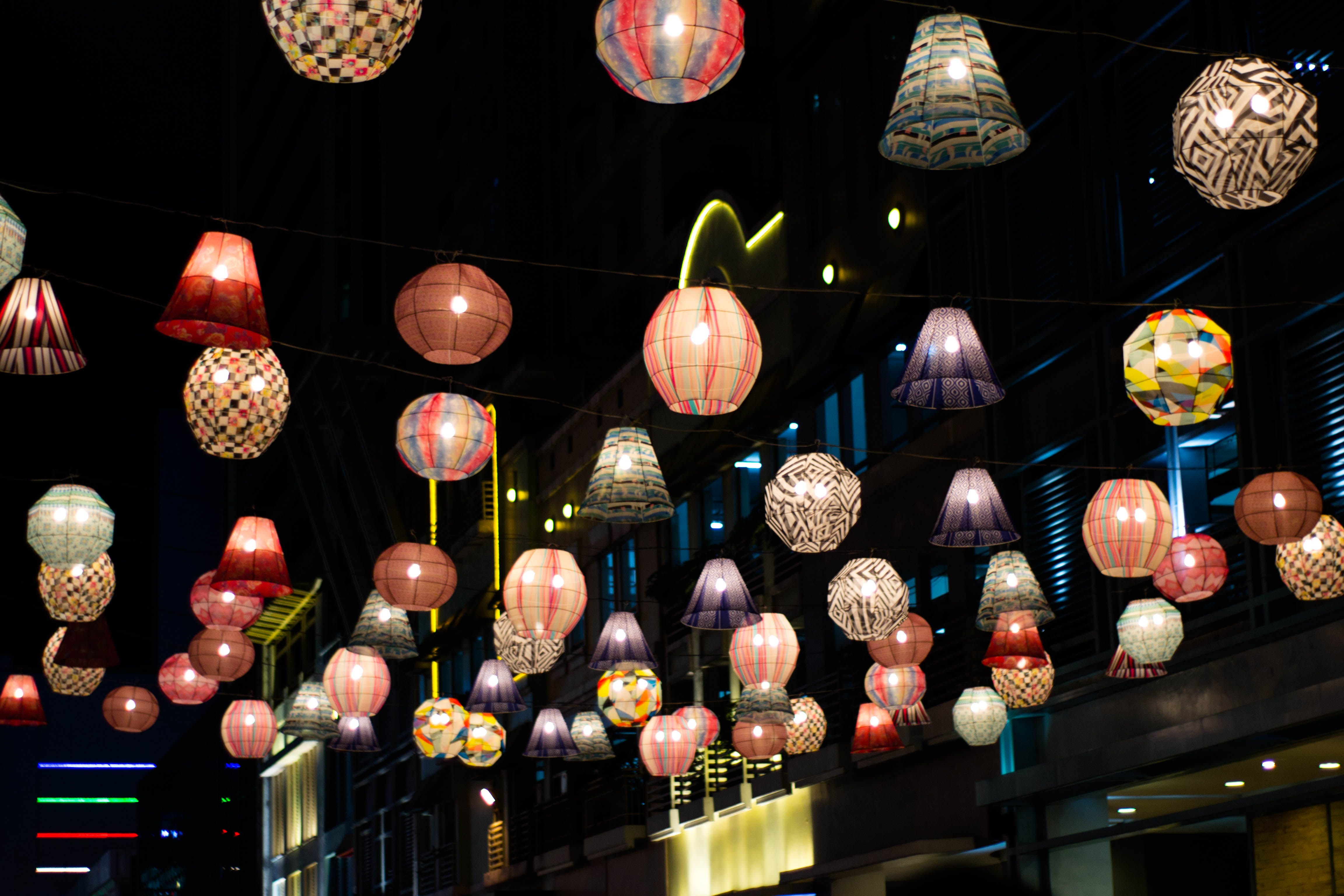 Free stock photo of chinese lanterns, lanterns