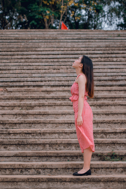 Standing Woman Wearing Dress