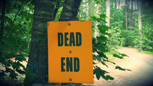 Free stock photo of deadend, end, road, sign