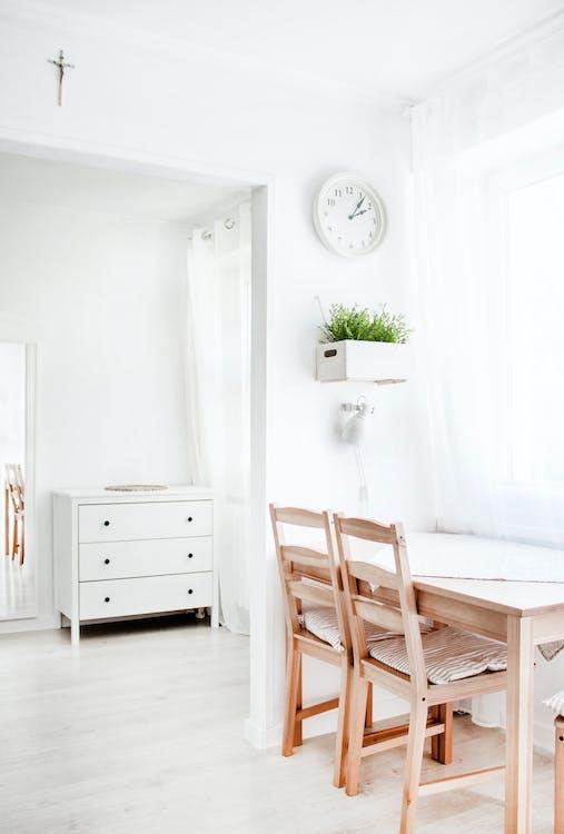 dekoracja, krzesła, meble
