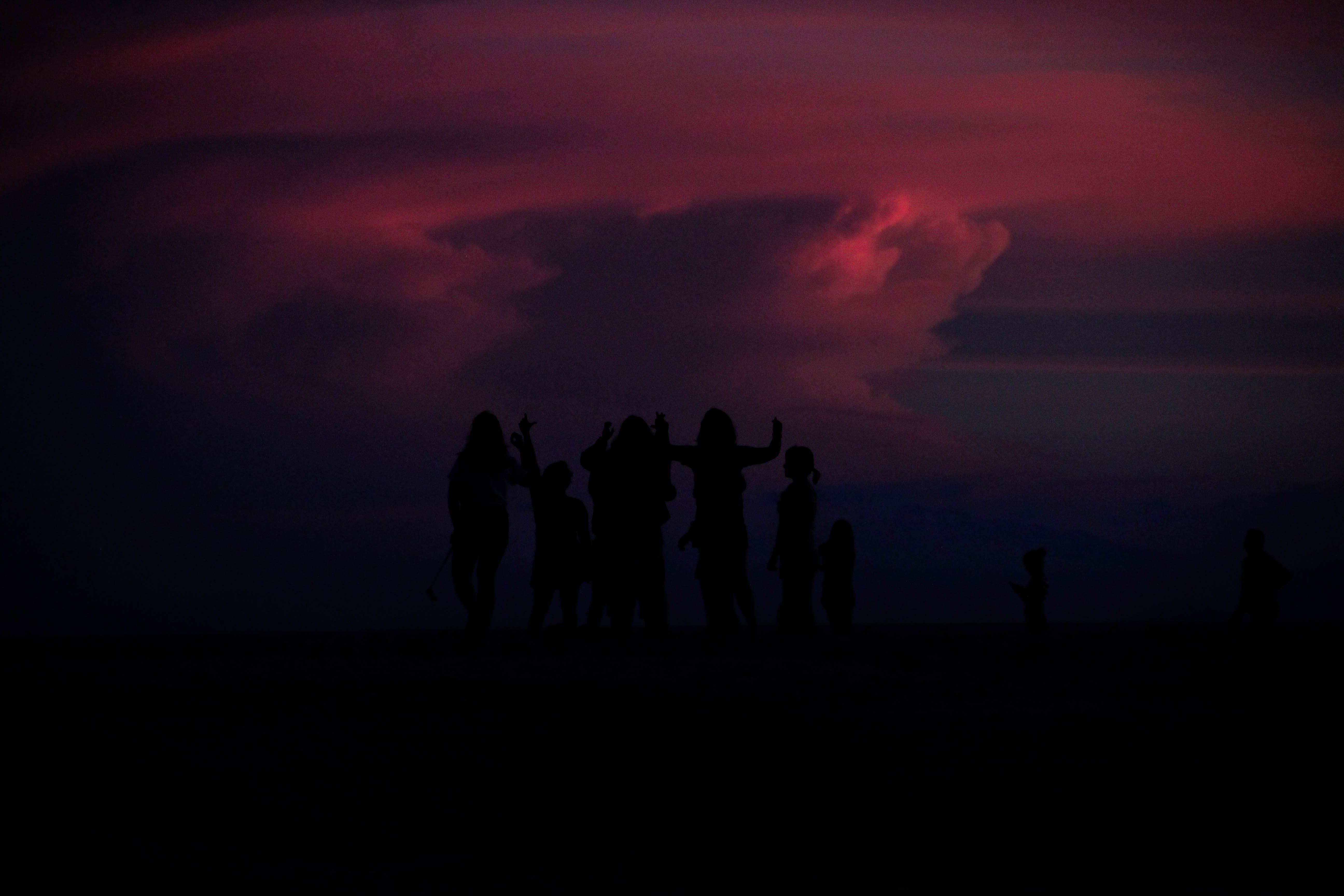 Free stock photo of beach, silhouettes