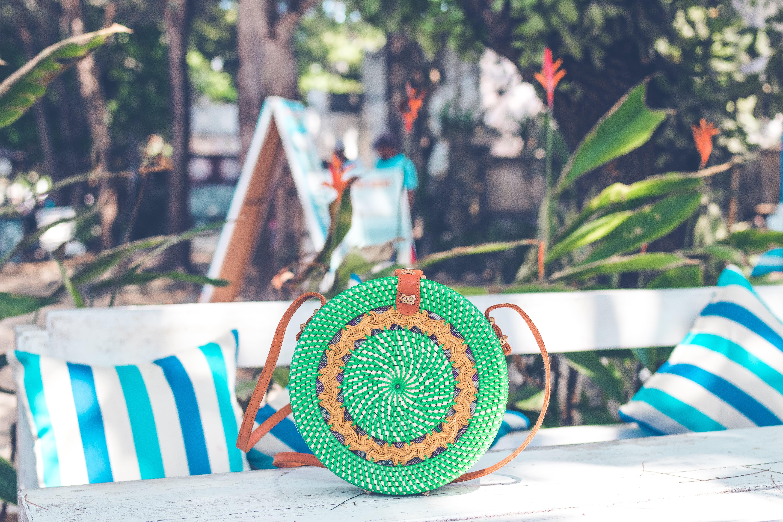 Round Green Bag