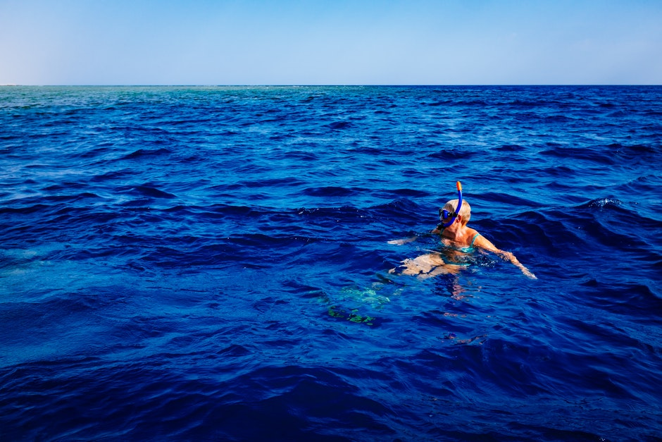 person, sea, snorkling