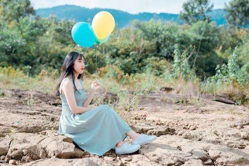 アジアの女性, アジア人の女の子, ロッキー, 人の無料の写真素材