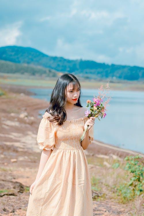 亞洲女人, 亞洲女孩, 享受, 人 的 免费素材照片