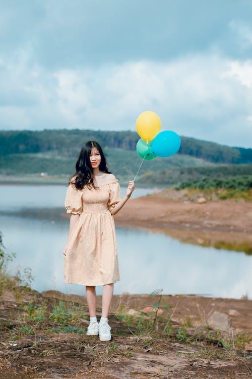 asiatisk kvinde, Asiatisk pige, fritid