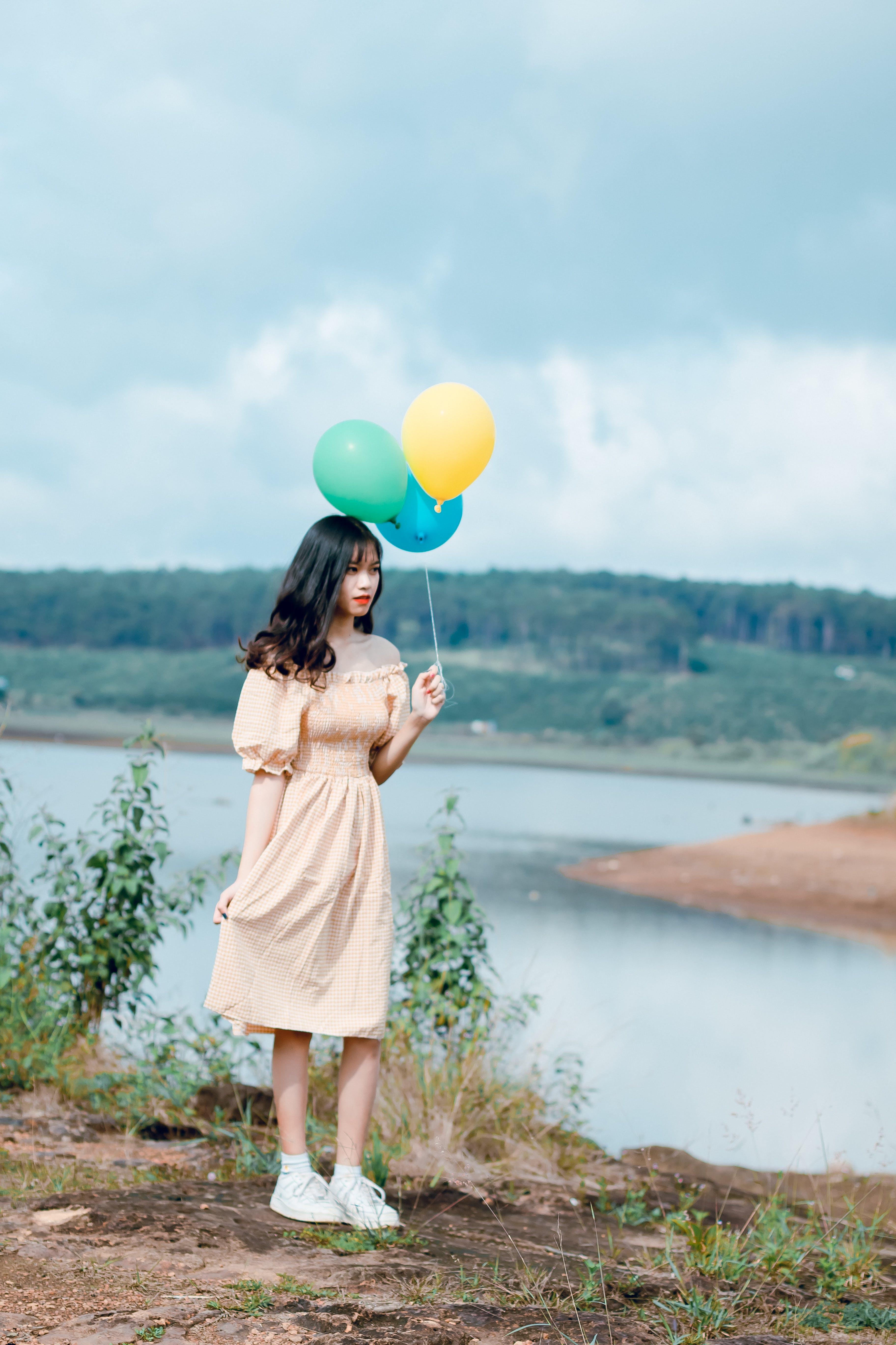 atraente, balões, bem-estar