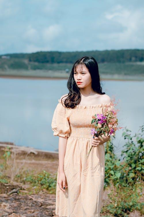 álló kép, ázsiai lány, ázsiai nő