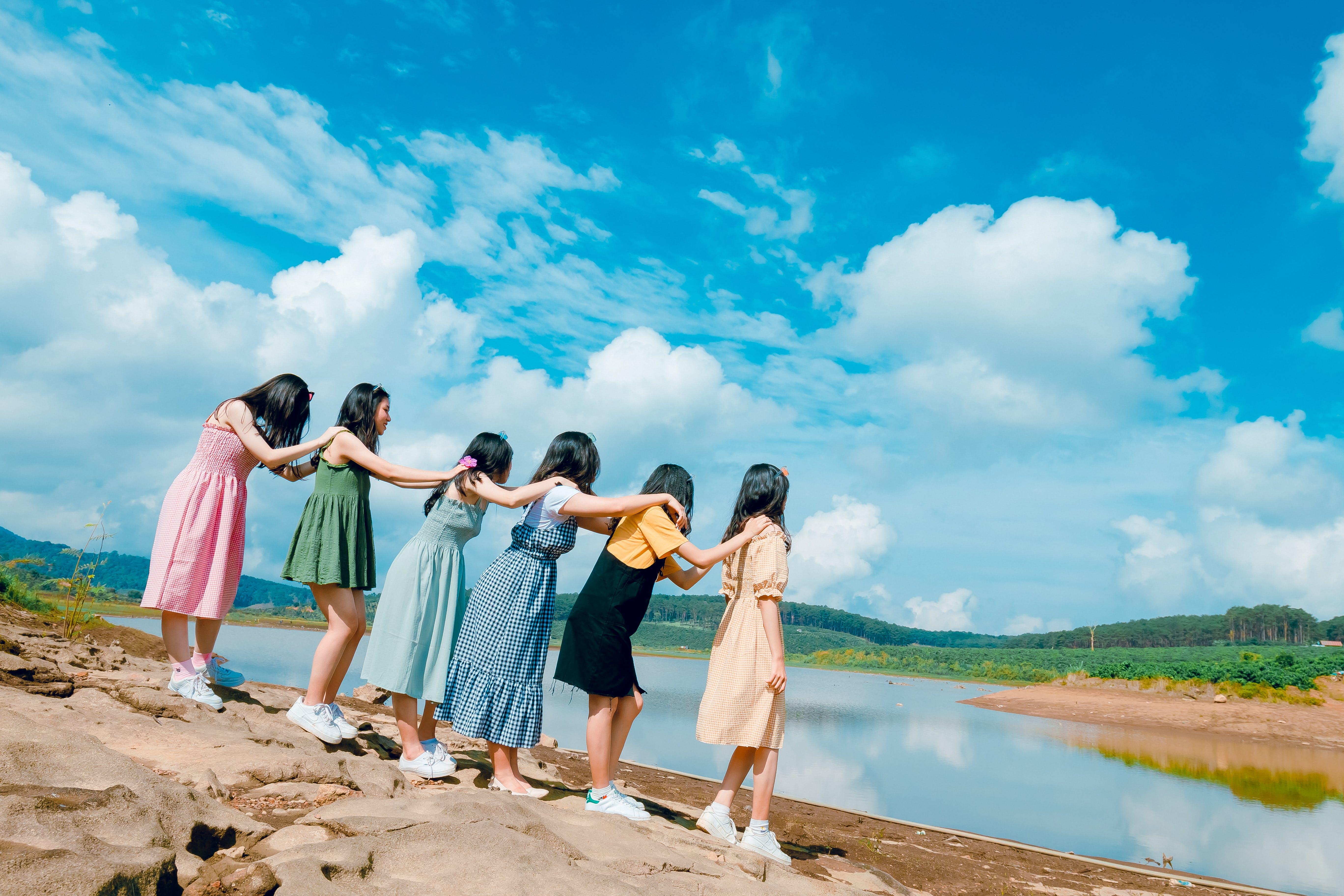 Základová fotografie zdarma na téma holky, lidé, obloha, pospolitost