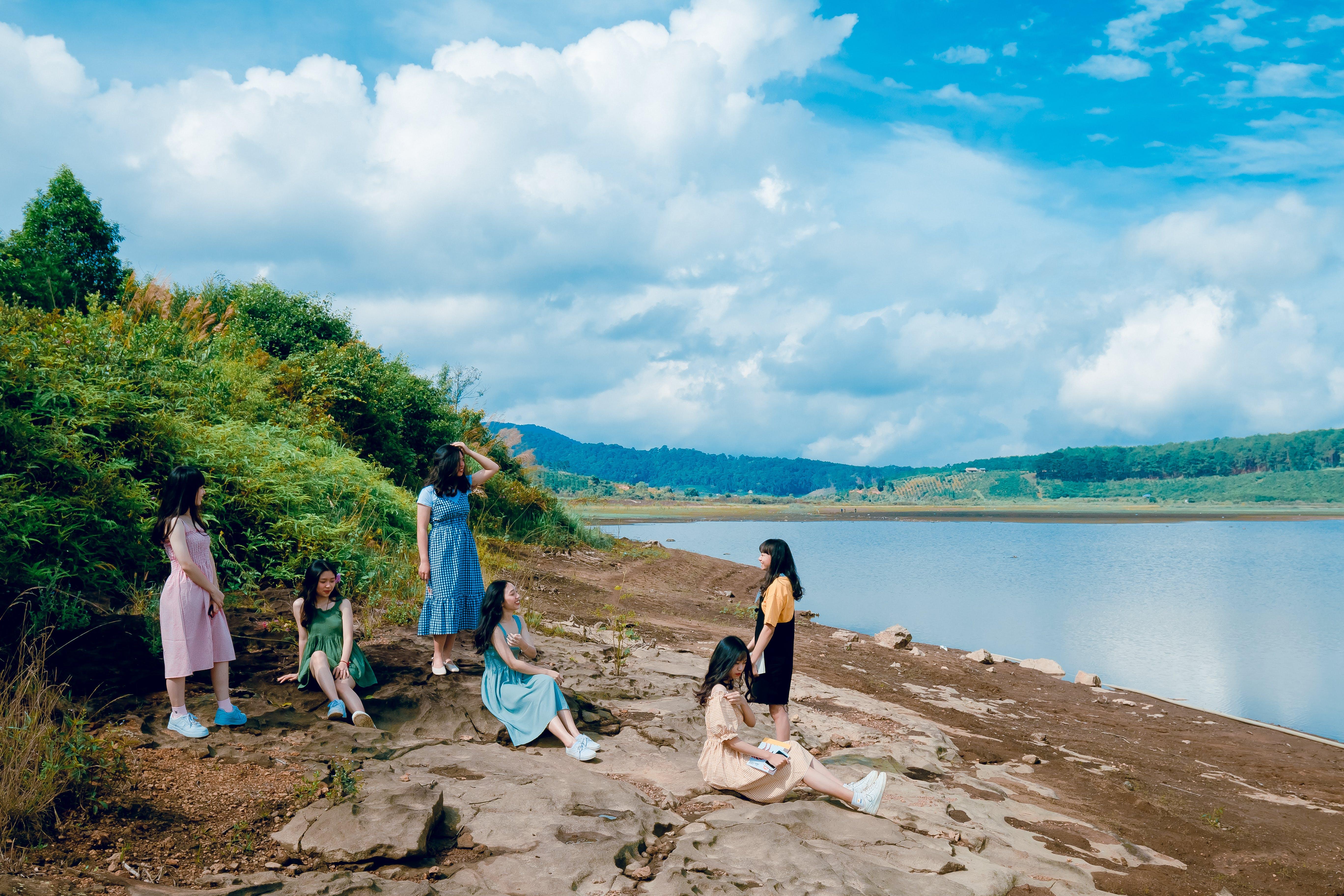 Six Women Near Lake