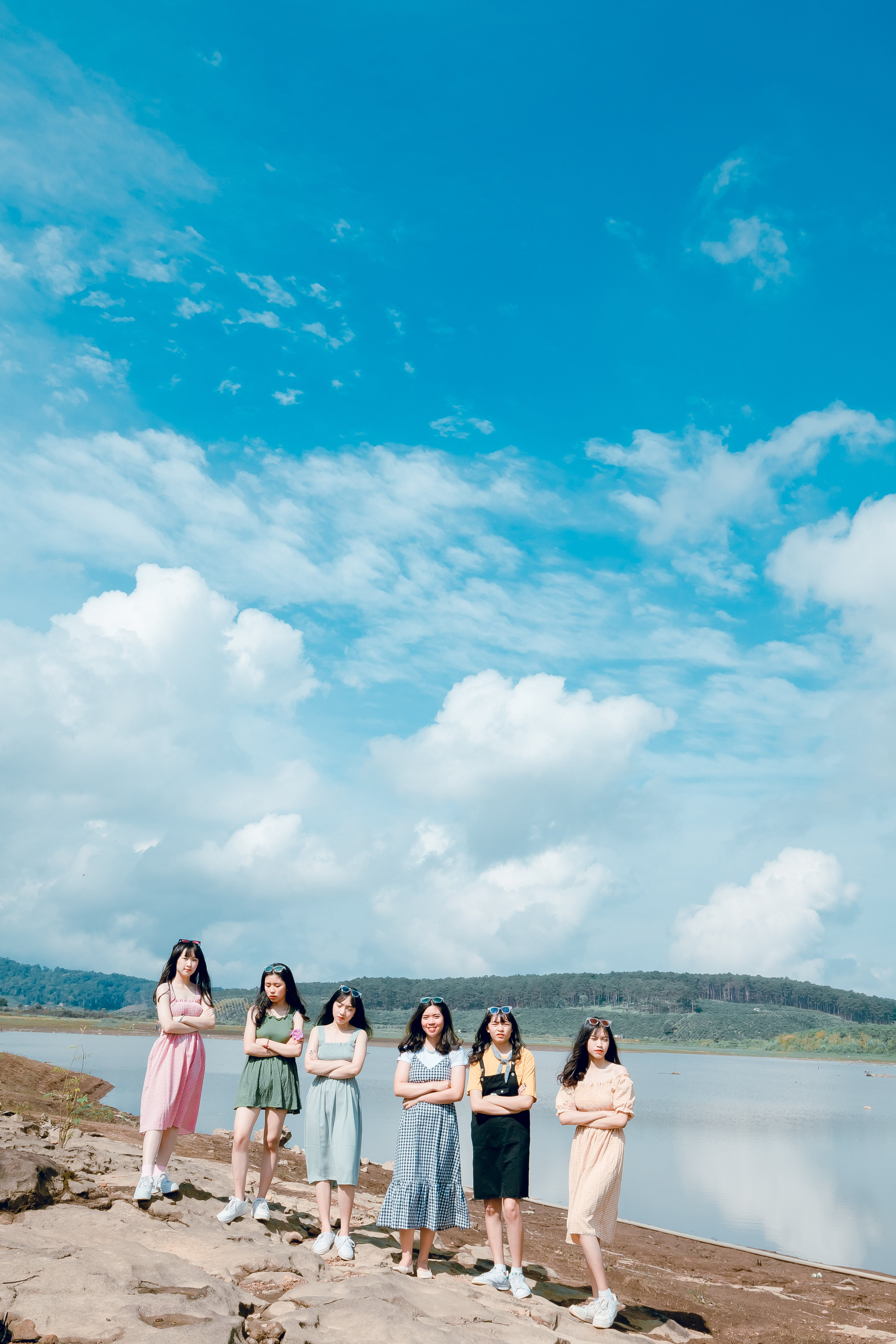 Six Women Near Body of Water
