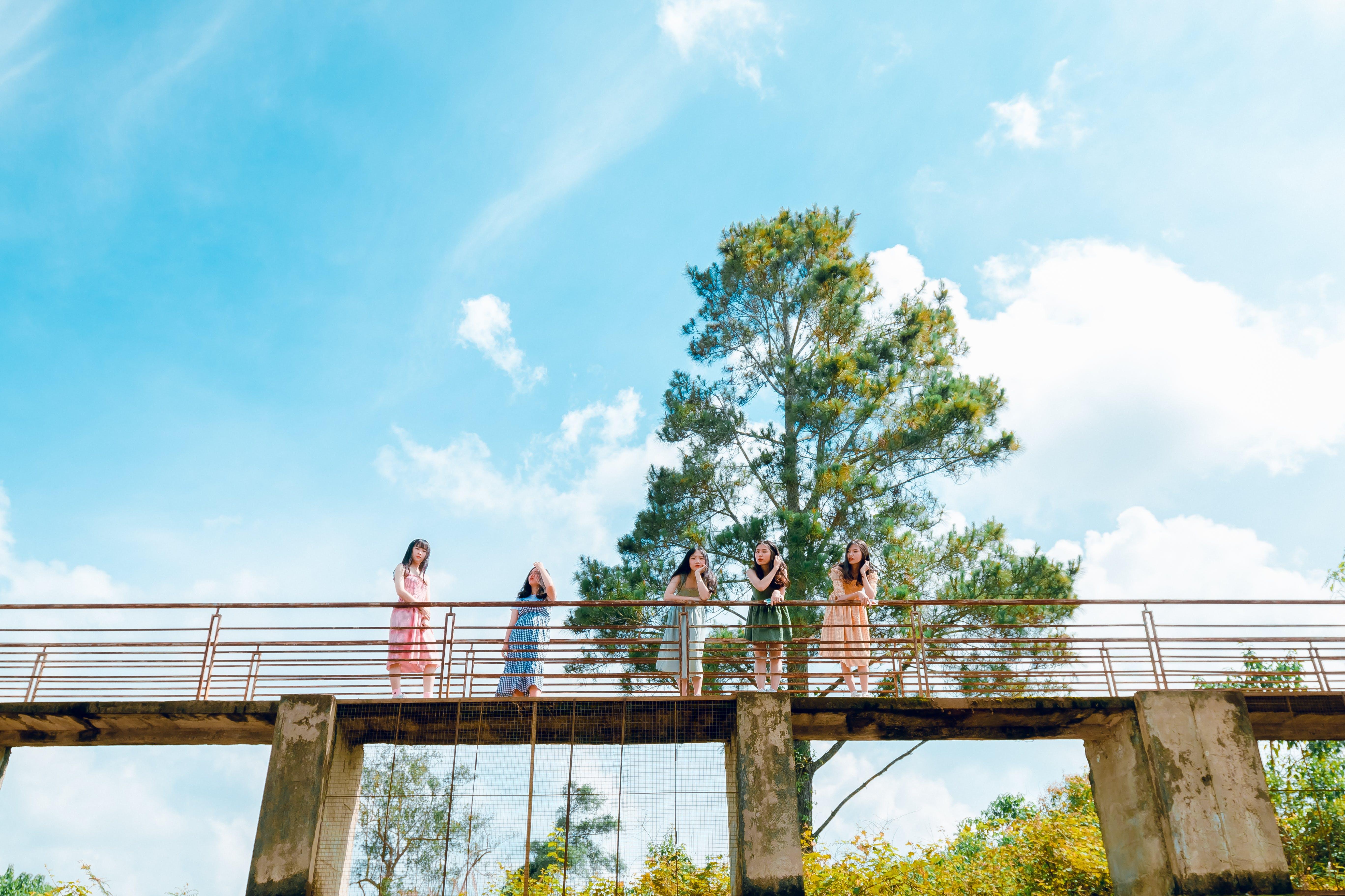 Landscape Photography of People on Bridge