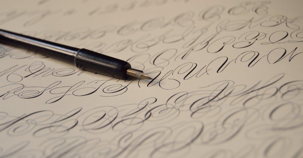 Картинки каллиграфические