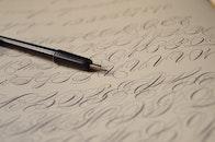 pen, writing, blur